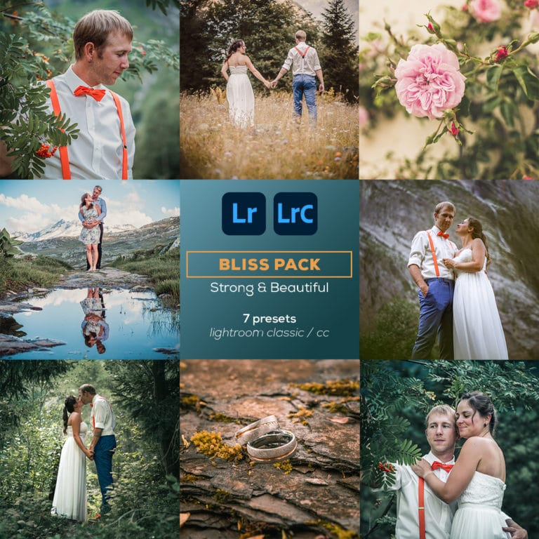 Lightroom CC & Classic Presets Bliss Pack by Paedii Luchs- 7 presets