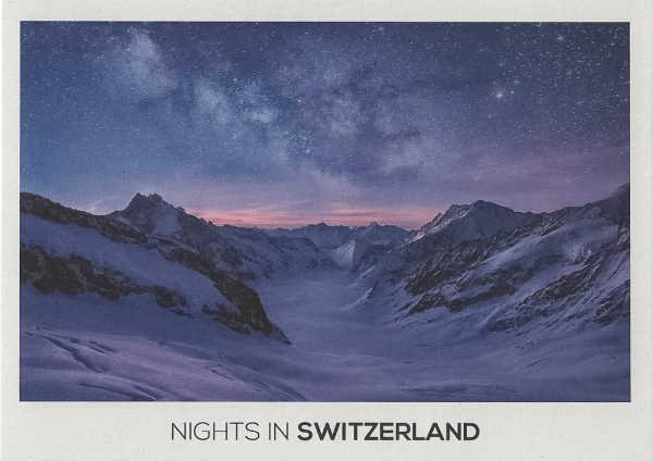 The milky way rising over the pennine Alps and Aletsch glacier