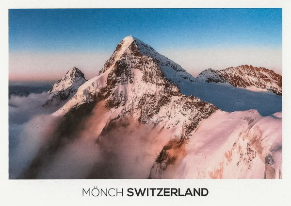 The Mönch Mountain in the Bernese Alps.